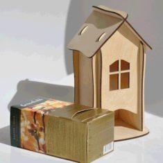 25 Caja De Te Casita Laser Souvenir