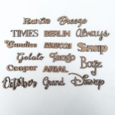 Letras De Madera Fibrofacil 25cm Nombres