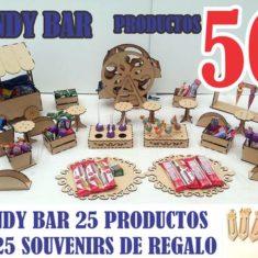 Candy Bar Kit Combo Completo Fibrofacil 50 Productos