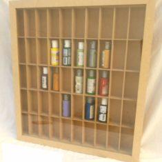 Repisa 50 Div Vidrio Organizador Coleccionable Vitrina Mdf