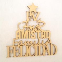 Arbol Navidad Frases 30cm